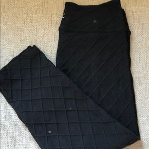 Beyond Yoga quilted crops